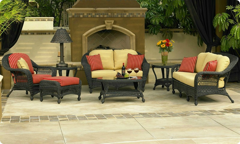 Charleston Collection - Wicker And Rattan Furniture Wicker Cushions Both Indoor & Outdoor