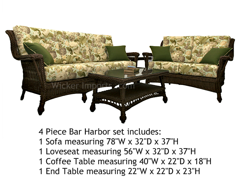 3328set4A - North Cape Bar Harbor 4 piece set