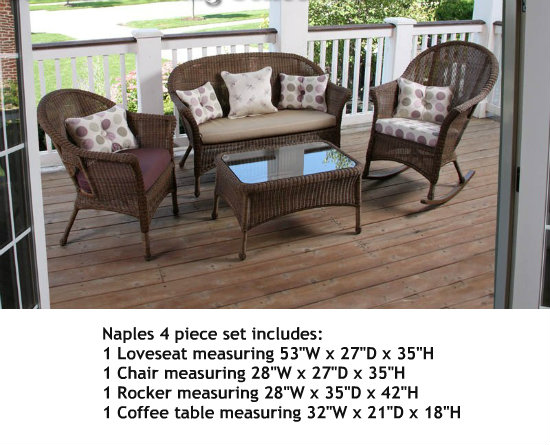 280Set4A - North Cape Darby and Naples 4 Piece Set