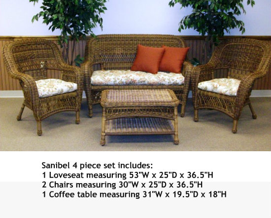 4178Set4A - Chasco Designs Sanibel 4 Piece Set