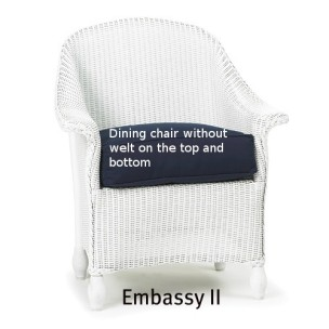 251DC Cushion - Embassy II  Dining Chair Replacement Cushion