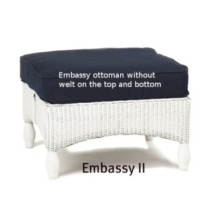 251O Cushion - Embassy II Ottoman Replacement Cushion