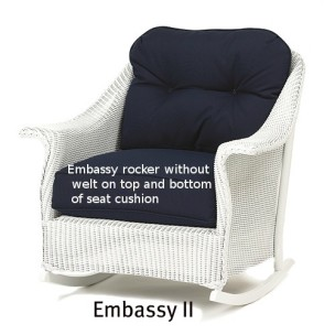 251R Cushions - Embassy II Rocker Replacement Cushion