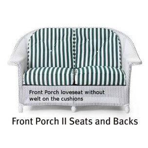142LS Cushions - Front Porch II Loveseat Seat and Back Replacement Cushions