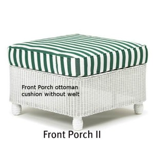 141O Cushion - Front Porch II Ottoman Replacement Cushion