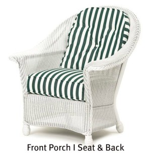 140C Cushions - Front Porch I Chair Seat and Back Replacement Cushions