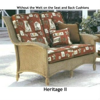 241LS Cushions - Heritage II Loveseat Replacement Cushion