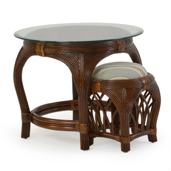 5421 - Palm Springs Island Way Round End Table with Stool