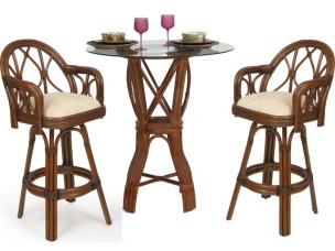 7562 - Palm Springs Jamaica 3 Piece Bar Height Set