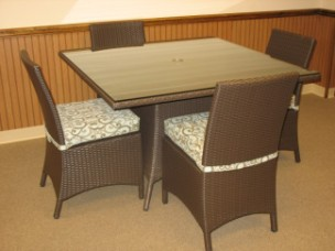 "260Dining5A - North Cape Melrose 48"" Square 5 Piece Dining Set"