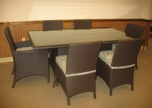 "260Dining7A - North Cape Melrose 72"" x 42"" Rectangle 7 Piece Dining Set"