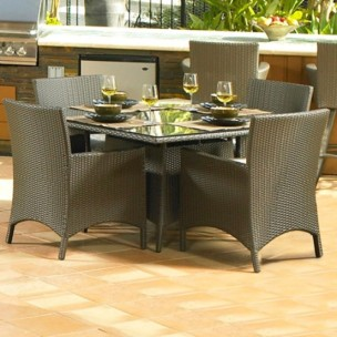 "260Dining5B - North Cape Melrose 48"" Square 5 Piece Dining Set"