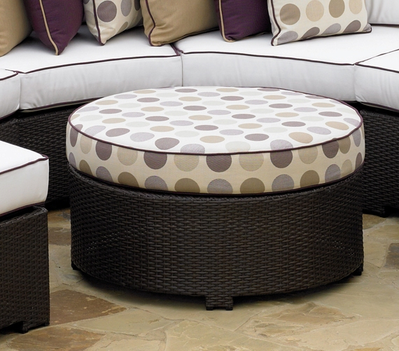 260RO** - North Cape Melrose Round Ottoman