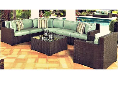 260Set8B - North Cape Melrose Sectional 8 Piece Set