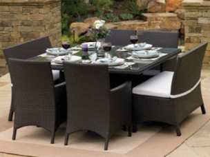 "260Dining7 - North Cape Melrose 60"" Square 7 Piece Dining Set"