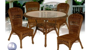 "4178_42_set - Chasco Designs Sanibel 42"" 5 Piece Dining Set"