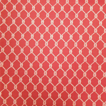 Square Knot Cinnabar - Spun Poly Fabric on Premium Cushions