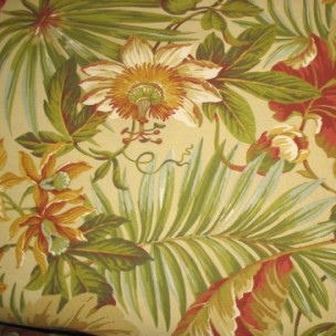St. Croix Cinnabar - Spun Poly Fabric on Premium Cushions